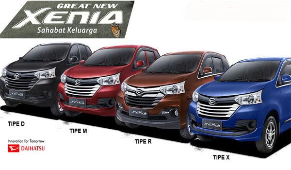 Perbedaan Semua Varian Daihatsu All New Xenia