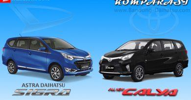 Komparasi Daihatsu Sigra vs Toyota Calya
