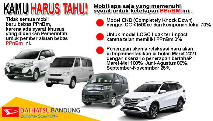 Info PPnBM mobil Daihatsu